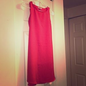BB Dakota Crepe orange red dress